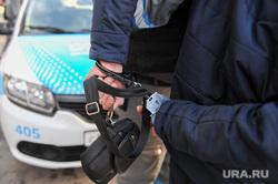 Группа реагирования охранного предприятия Дельта. Челябинск, наручники, барсетка, нарушитель