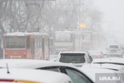 Виды Екатеринбурга необр, пробка, общественный транспорт, снегопад, проспект ленина