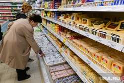 Пятерочка. Супермаркет. Челябинск., покупатели, молоко, супермаркет, сыр