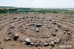 Аркаим. Архивные кадры 2010 года. Челябинская область, аркаим, спирали из камней