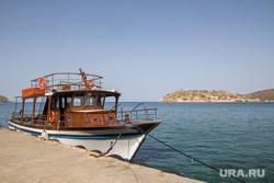 Клипарт. Греция. Крит, море, корабль, катер