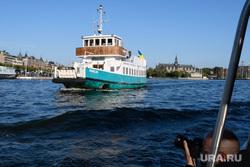 Виды Стокгольма. Швеция, паром, прогулочное судно, речной трамвай