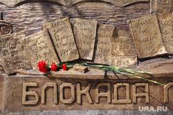 Открытие обновленного Широкореченского мемориала. Екатеринбург, гвоздики, блокада, широкореченский мемориал, цветы