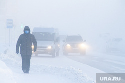 Мороз и ледяной туман. Салехард. 31 января 2019 г, зима, проезжая часть, арктика, мороз, туман