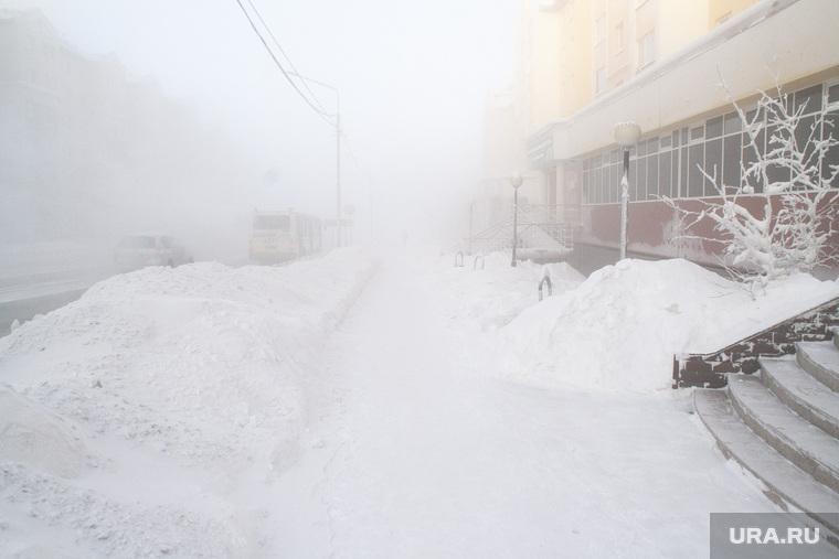 Мороз и ледяной туман. Салехард. 31 января 2019 г, мороз, зима, туман