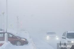 Мороз и ледяной туман. Салехард. 31 января 2019 г, проезжая часть, фары, мороз, зима, туман