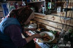 Заболотье Тюменская область., пенсионерка, быт, бабушка, кухня