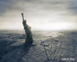 Работа руками, айфон 8, скорая помощь, солнце, конец света, разрушения, катастрофы, разрушенные города, падающая статуя свободы