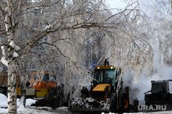 ЖКХ. Челябинск, коммунальная авария, спецтехника, жкх, зима, мороз, теплотрасса, пар