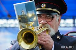 Открытие памятника реактивной системе залпового огня «Град». Челябинск, музыкант, оркестр, пенсионер, трубач