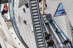 Клипарт, торговый центр, люди, эскалатор, вид сверху