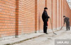 Здание краевой прокуратуры города. Пермь. , сизо, тюрьма, уборка территории
