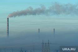 Клипарт. Троицкая ГРЭС. Челябинская область, дым, экология, трубы дымят, смог, троицкая грэс