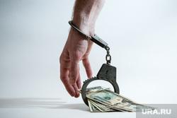 Клипарт. Сургут, руки в наручниках, финансовое преступление, взятка, наручники, доллары, деньги, финансовое рабство, рука