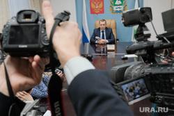 Брифинг врио губернатора Курганской области Шумкова Вадима со СМИ, сми, видеокамера, шумков вадим