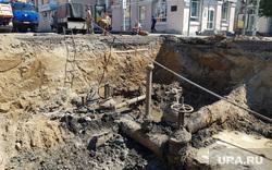 Виды Кургана, ремонт дороги, раскопки, водопроводные трубы