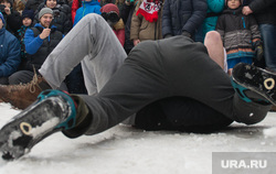 Проводы зимы в Екатеринбурге, драка, борьба