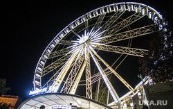 Виды Венгрии. Будапешт, Сзалка, Пакш, колесо обозрения, вечерний город, будапешт, парк эржебет