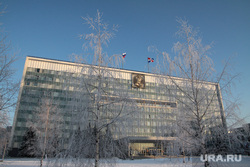 Зимние виды города Пермь, правительство пермского края, зима, город пермь