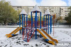 Объезд городских территорий Борисом Дубровским. Челябинск, горка, детская площадка