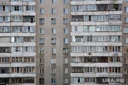 Строительство дороги по ул. Бурова-Петрова. Курган, многоэтажка, этажи, окна дома