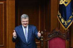 Украина. Петр Порошенко. Военные, порошенко петр, большой палец вверх