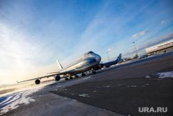 Прибытие рейса из Амстердама в Кольцово с цветами на борту. Екатеринбург, взлетная полоса