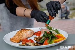 VIII Международный фестиваль барбекю в Екатеринбурге., овощи, соус, рыба, еда