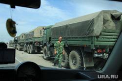 Военная техника на трассе М4 в направлении на Ростов, военная техника, автоколонна