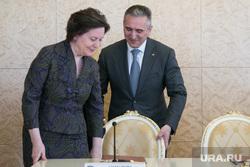 Подписание трехстороннего договора Тюменской области, ХМАО и ЯНАО. Тюмень, моор александр, комарова наталья