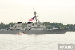 Клипарт depositphotos.com, море, американский флаг, военный корабль, эсминец сша
