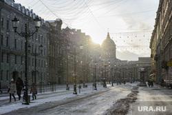 Виды Санкт-Петербурга, зима, казанский собор, санкт-петербург, питер, улица малая конюшенная