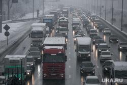 Снегопад в Москве. Москва, проезжая часть, МКАД, трафик, снегопад, пробка