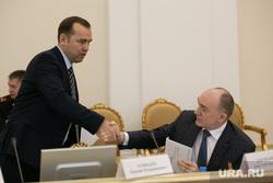 Выездное заседание совета безопасности РФ. Тюмень, рукопожатие, шумков вадим, дубровский борис