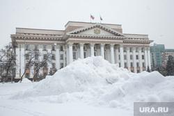 Снег. Тюмень, сугроб, правительство тюменской области, снег