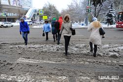 Погода. Снег. Грязь Челябинск., снежная каша, погода, переход