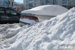 Снег в городе. Курган, снег в городе, сугробы
