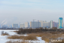 Зима, мороз. Пруд Коммунар, плотина Челябинск, новостройки, жилье, пруд коммунар, район северо-запад