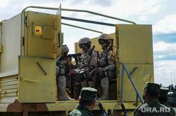 Антитеррористические учения «Мирная миссия - 2018». Челябинск, армия, пулемет, вооружение, Сирия, оружие, война