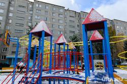 Объезд городских территорий Борисом Дубровским. Челябинск, детская площадка