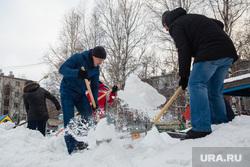 Субботник по уборке снега в детском саде