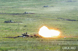 Антитеррористические учения «Мирная миссия - 2018». Челябинск, армия, вооружение, танк, выстрел, оружие, война