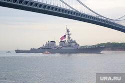 Американские эсминцы, военный корабль, нью йорк, американский флаг, военный корабль, эсминец сша