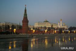 Виды Кремля с Патриаршего моста. Москва, вечерний город, город москва, кремль, москва-река