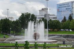 Виды Екатеринбурга, фонтан шар, город екатеринбург, октябрьская площадь
