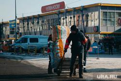 Прогулка по китайскому кварталу, груз, таганский ряд, рынок, складская тележка