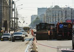 Пробка из-за ремонта дороги на проспекте Ленина. Челябинск, ремонт дороги, проспект ленина, затрудненное движение, пробка