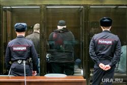 Фигуранты дела Шакро Молодого (Захария Калашова) в Мосгорсуде на заседании суда по апелляции по делу. Москва, полиция, подсудимые