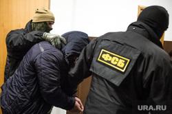 В Басманном суде на оглашении меры пресечения Ишаеву. Москва, фсб, маски-шоу, задержанный, конвоирование осужденного, задержание преступника