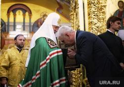 Визит патриарха Кирилла в Храм святой мученицы Татианы. Когалым , патриарх кирилл, алекперов вагит, поцелуй руки